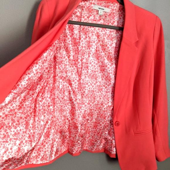 Pinkish-coral Kensie blazer, size medium
